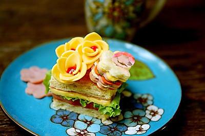 百吉福奶酪花朵三明治#百吉福食尚达人#