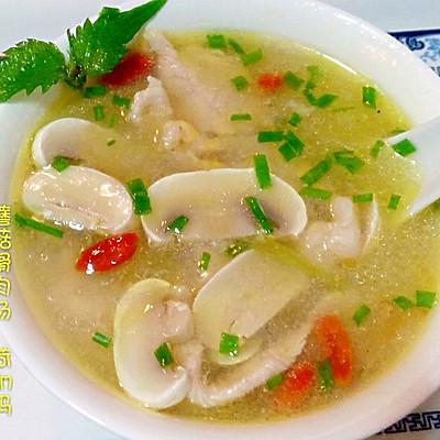 蘑菇滑肉汤