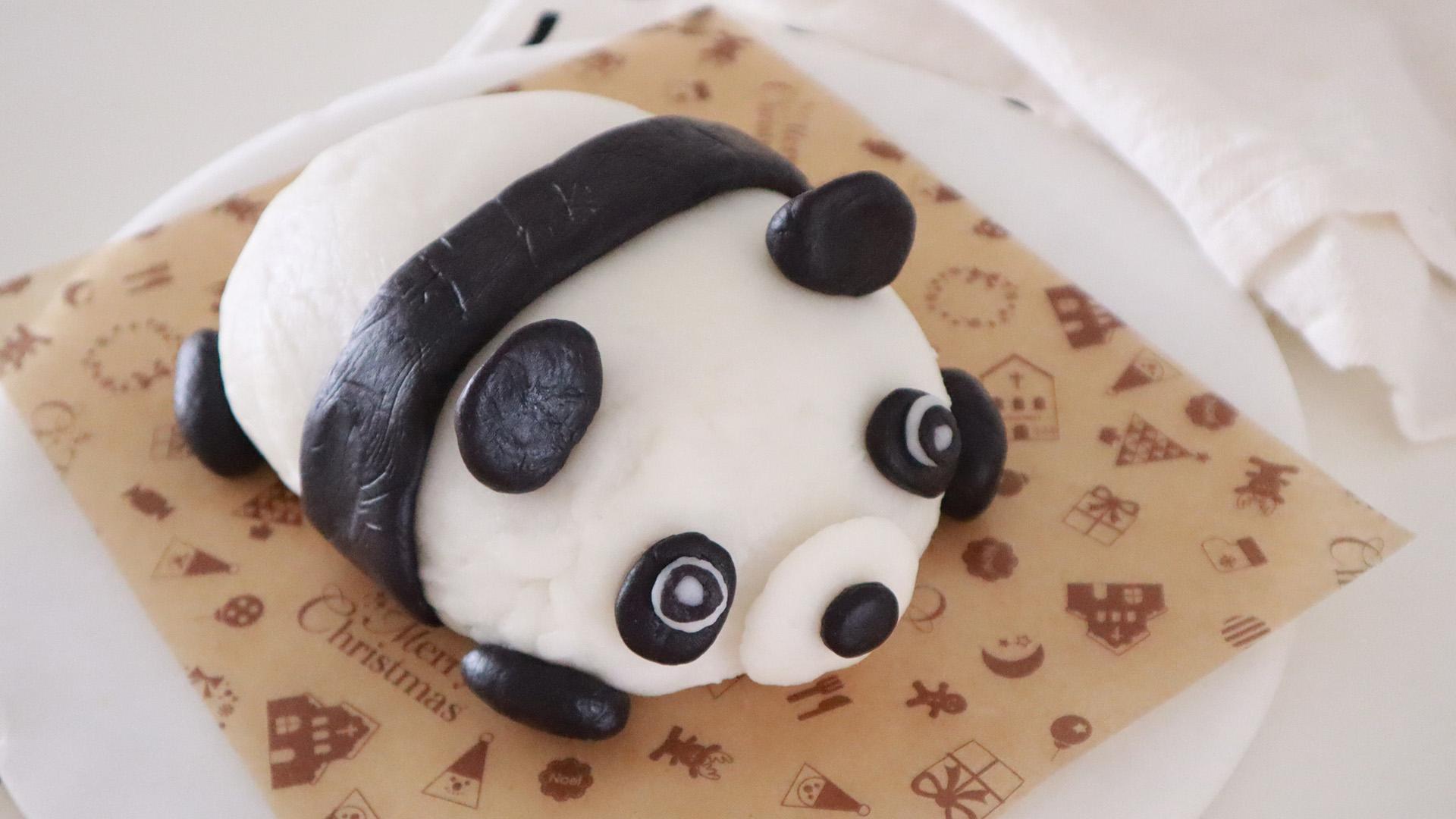 2斤半超大一个的超可爱熊猫冰皮月饼,中秋节独一无二的礼物