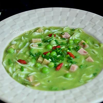 豌豆银鱼汤