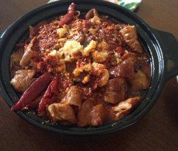 水煮肥肠鸭血嫩豆腐—冬季暖身的做法