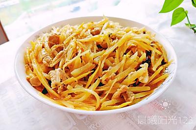 家常豆豉土豆肉丝(懒人版)