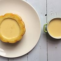 美妙的夏日甜品:小南瓜蒸蛋奶的做法图解10