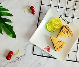 斑马纹酸奶戚风蛋糕~(超详细步骤及注意事项)的做法