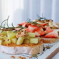 開放式水果三明治的做法圖解6