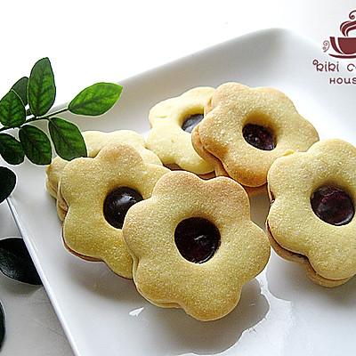 【蓝莓QQ糖果酱夹心饼干】