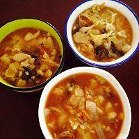 榛蘑西红柿疙瘩汤~暖暖的都是爱的做法图解6