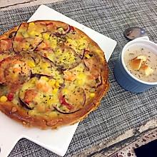鲜虾火腿意大利口味披萨