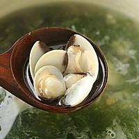 #花10分钟,做一道菜!#海草蛤蜊汤的做法图解6