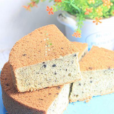 8 寸黑芝麻花生戚风蛋糕