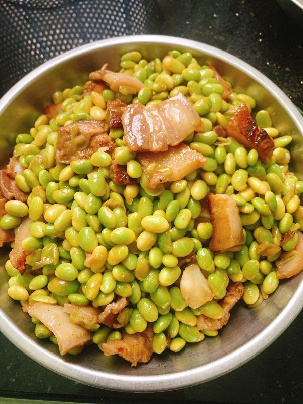 毛豆炒肉的做法