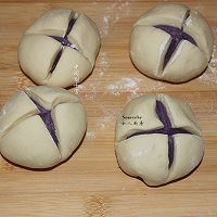 紫薯开花馒头的做法图解10