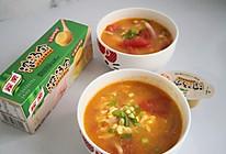 #我们约饭吧#家乐浓汤宝~老母鸡味番茄蛋汤的做法