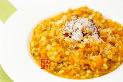【曼步厨房】素食主义 – 意式南瓜烩薏米