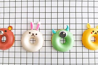 卡通甜甜圈蛋糕/比卡丘/轻松熊