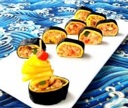 蛋包饭寿司卷#急速早餐#的做法