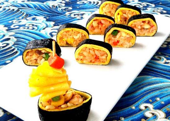 蛋包饭寿司卷