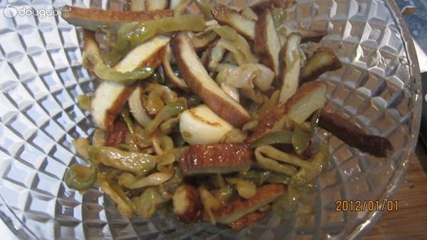 榨菜豆乾的做法