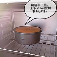 6寸水果奶油花篮裱花蛋糕(附戚风蛋糕制作)的做法图解7