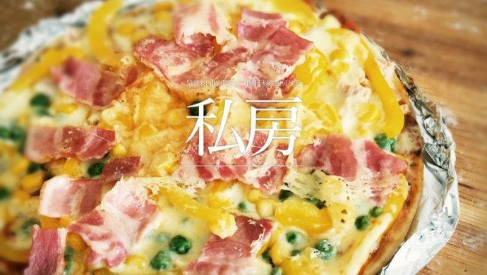 利仁电饼铛试用——海陆双拼披萨(附薄饼底与披萨酱制作)