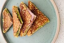 最营养早餐:牛油果火腿三明治的做法