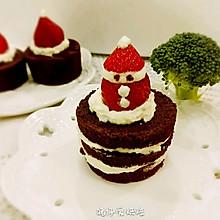 圣诞巧克力杯子海绵蛋糕(无油超软)