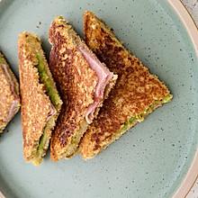 最营养早餐:牛油果火腿三明治
