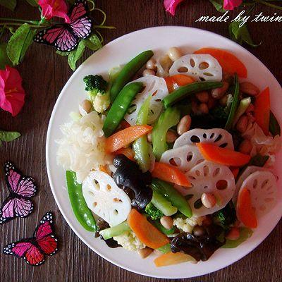 春季养生菜|炒素什锦(荷塘小炒)