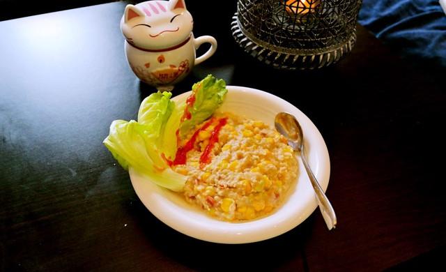 減肥餐 玉米咸麦片