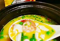 #豪吉川香美味#盐蛋黄豆腐虾仁汤的做法