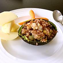 牛油果虾仁饭