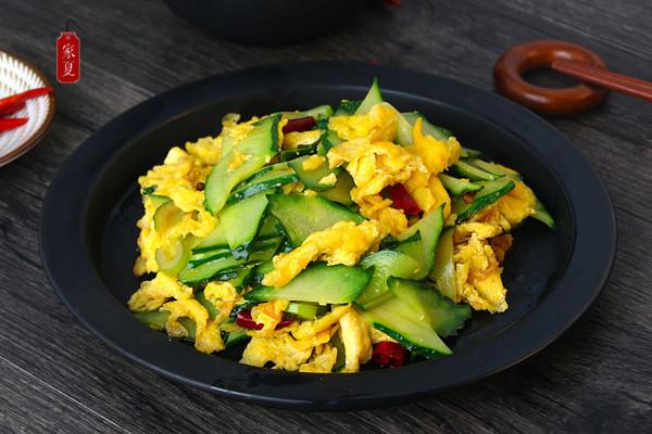 『家夏』家常黄瓜炒鸡蛋 超级美味简单快手菜的做法