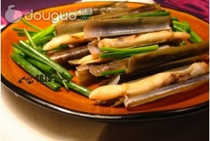 葱姜竹蛏子 的做法