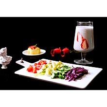 低脂蔬菜沙拉+香蕉奶昔#博世红钻家厨#
