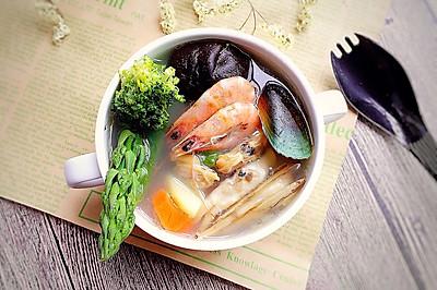 奶香海鲜汤