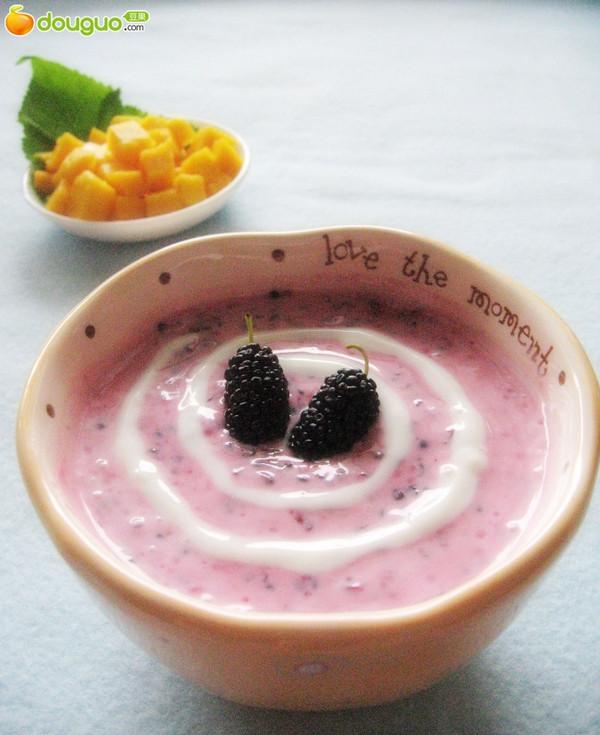 桑葚酸奶的做法