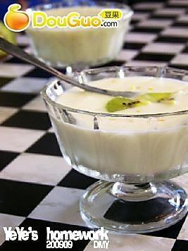 奇异果酸奶饮