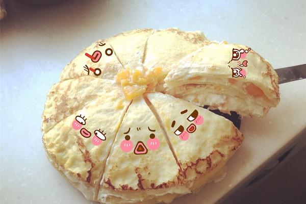 榴莲芒果千层蛋糕的做法