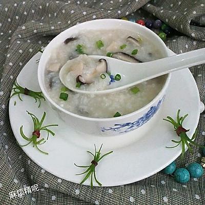 早餐~香菇鸡肉粥