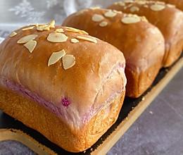 #助力高考营养餐#紫薯蜜豆小吐司的做法
