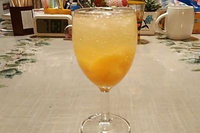 黄桃鸡尾酒(不含酒精)