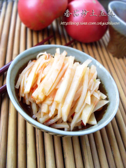 番茄炒土豆丝的做法
