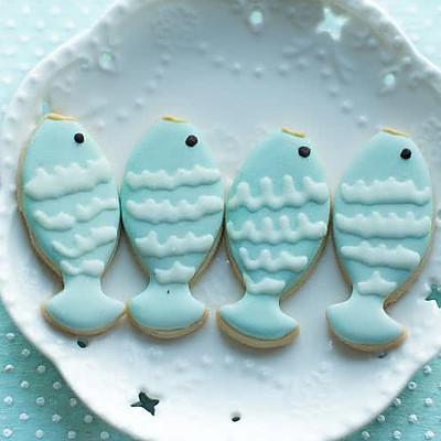 糖霜小鱼饼干