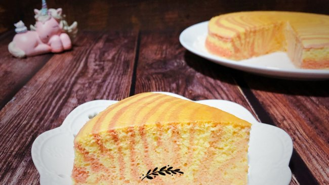 #带着零食去旅行!#粉色斑马纹酸奶蛋糕(无油版)的做法
