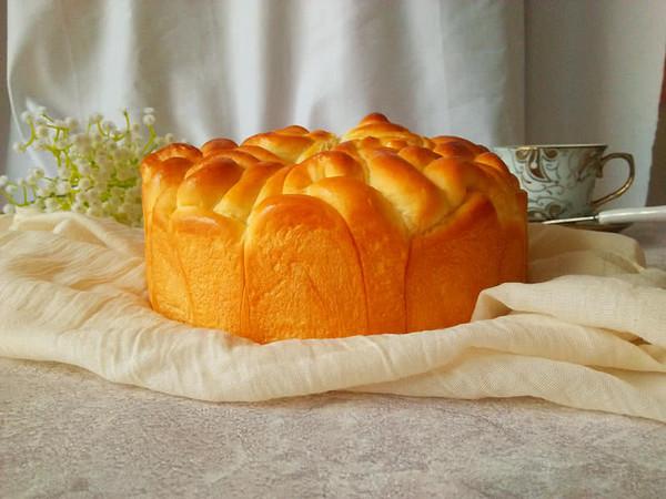 玫瑰花酸奶面包
