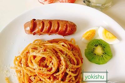 厨房小白版--番茄(西红柿)意面
