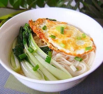青菜鸡蛋汤面