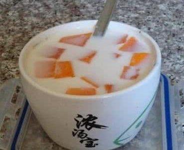 木瓜牛奶汤的做法