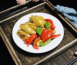 彩椒蚝油焖鸡翅的做法