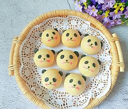 萌哒哒的熊猫烧果子,可爱得不忍心吃一口的做法